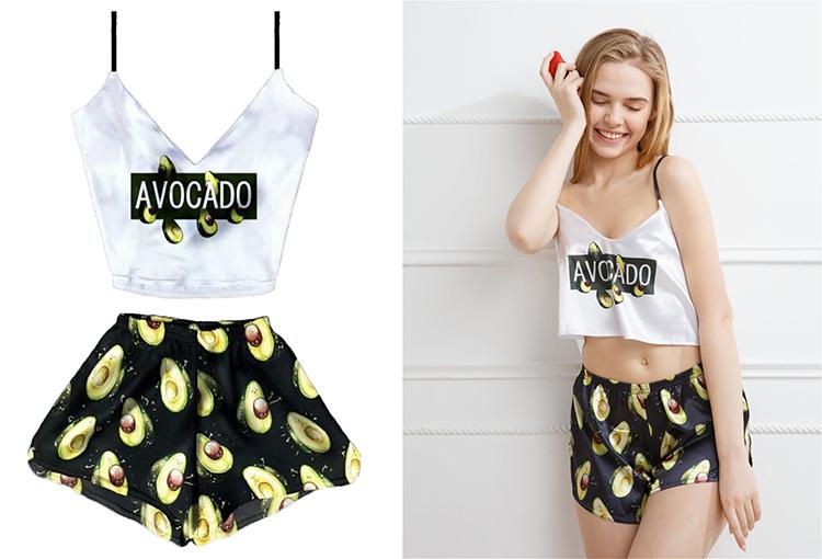 Пижама с авокадо