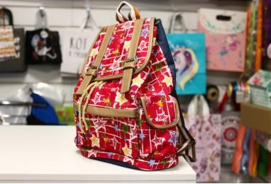 Рюкзак городской красный звезды