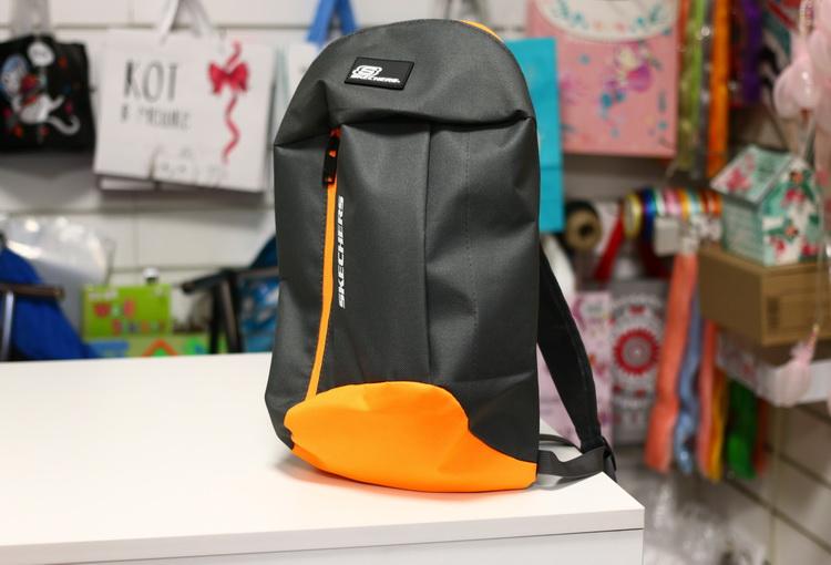 Рюкзак Backpack серо оранжевый