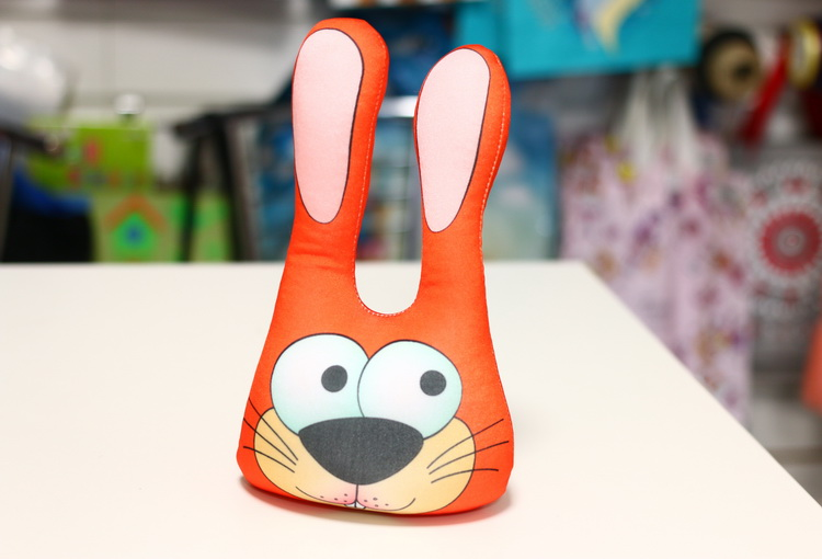 Игрушка заяц головастик оранжевый