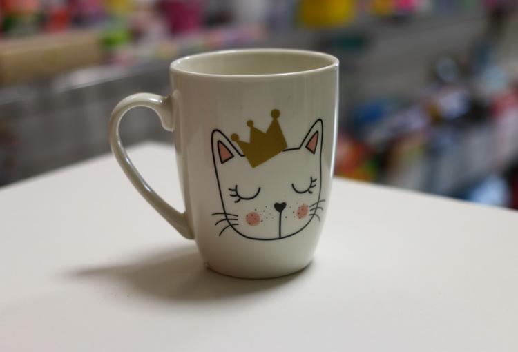 Кружка кот с короной 350мл