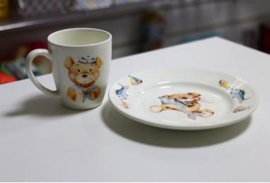Набор посуды медвежата