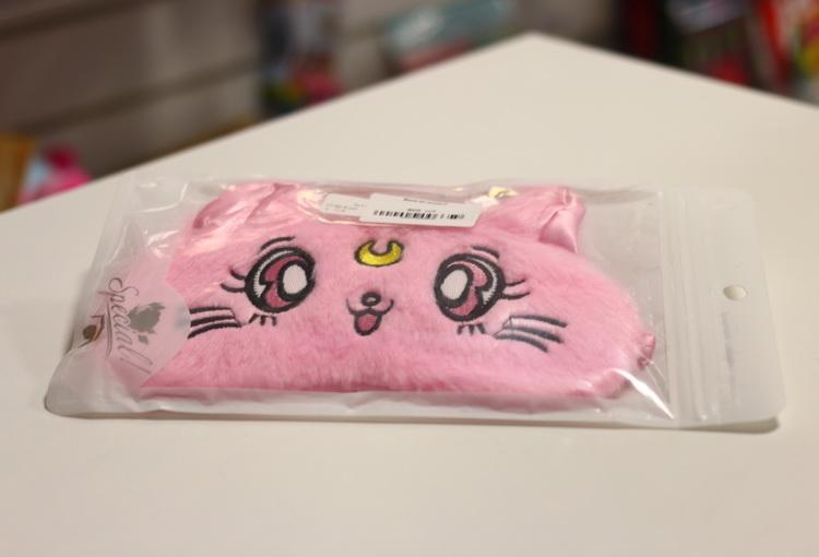 Маска кот розовый
