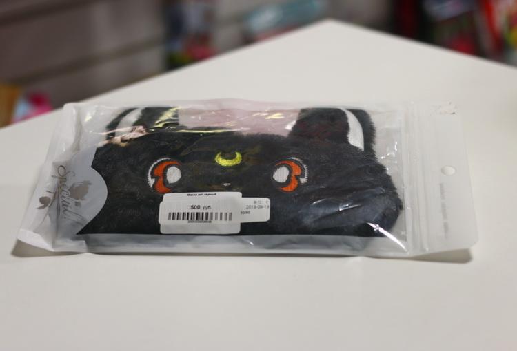 Маска кот черный