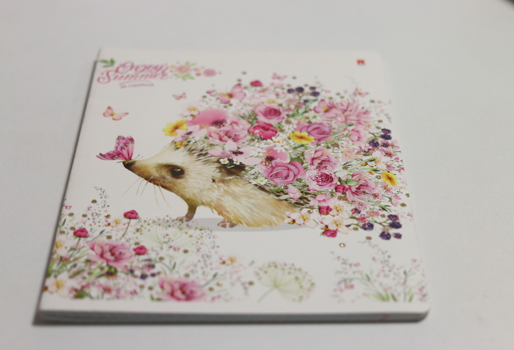 Тетрадь 48л # животные в цветах