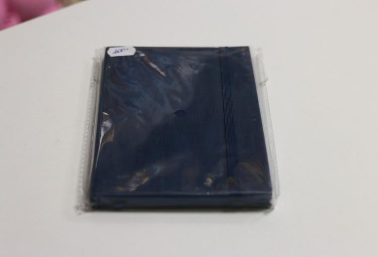 Блокнот синий на резинке
