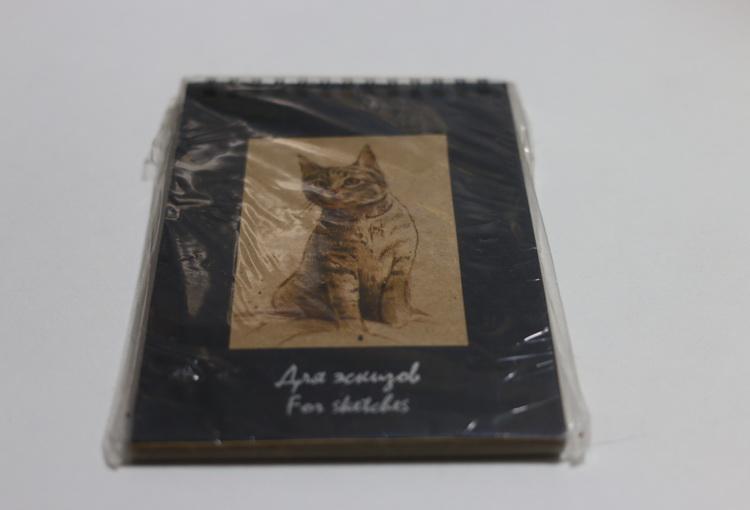 Блокнот для эскизов котик