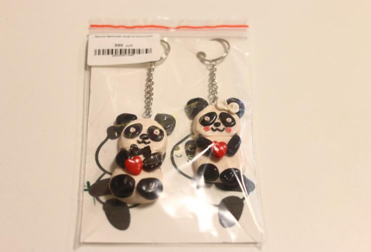 Брелок Handmade панда не разлучники