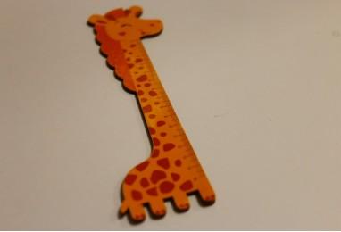 Линейка деревянная жираф