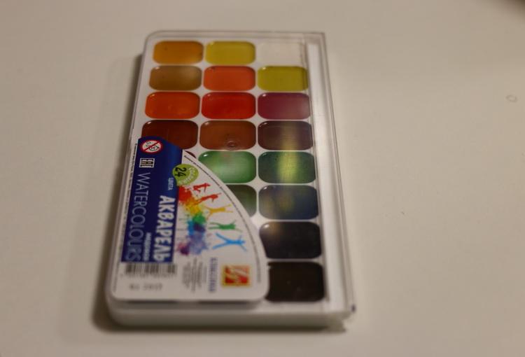 Краска акварель 24 цвета