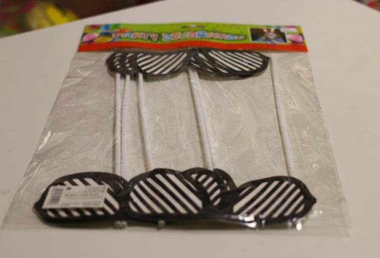 Карнавальная маска на палочке очки