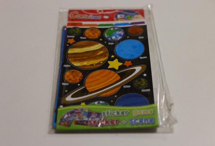 Игра с наклейками планеты