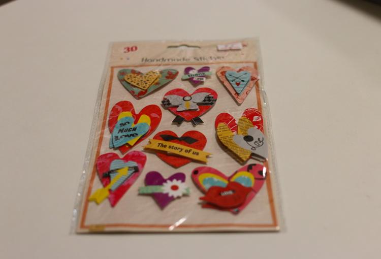 Наклейки 3D сердечки